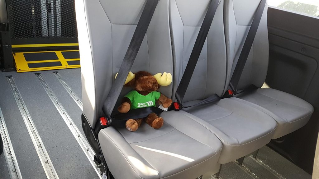 luthercare communities new wheelchair accessible van movemobility moose mascot
