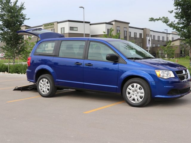 Commercial Rear Entry Dodge Grand Caravan with D409 equipment