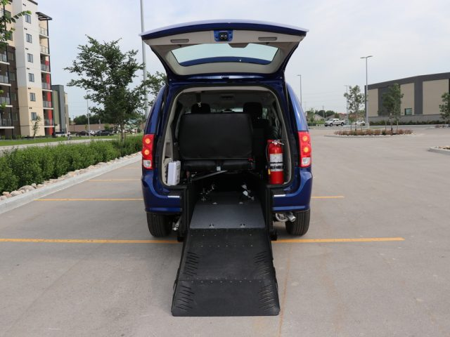 Commercial Rear Entry Dodge Grand Caravan with Third Row Folding Bench