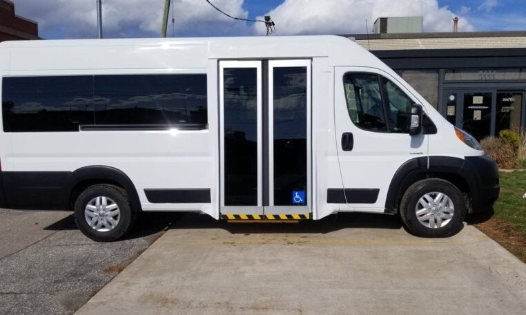 Side ramp Promaster Wheelchair Van