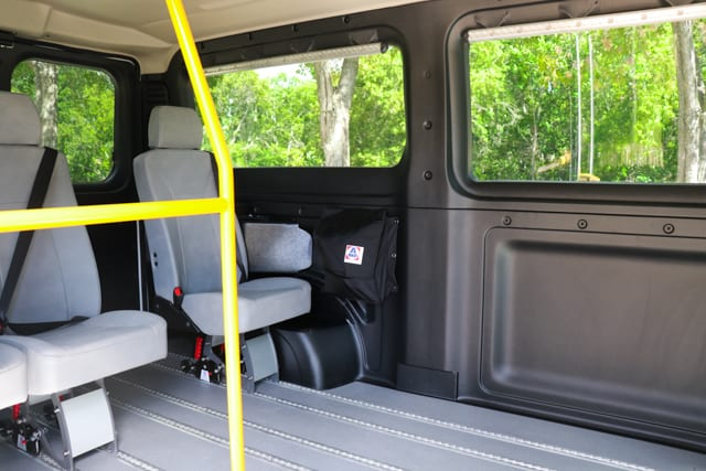 seats inside promaster side access mobility van
