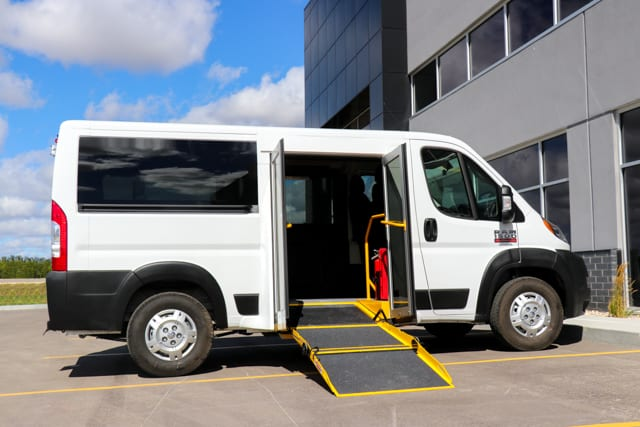 promaster 136 wheelbase low roof with side entrance wheelchair access