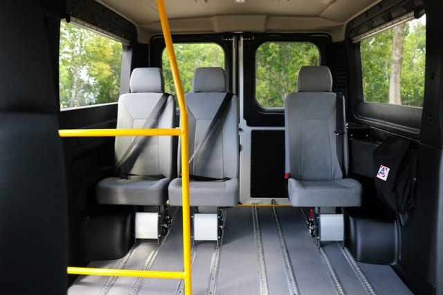 example of seat layout in large accessible van