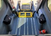 braunability hydraulic lift with autofloor inside movemobility wheelchair accessible ford transit