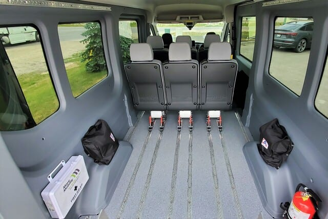 wheelchair accessible van ford transit