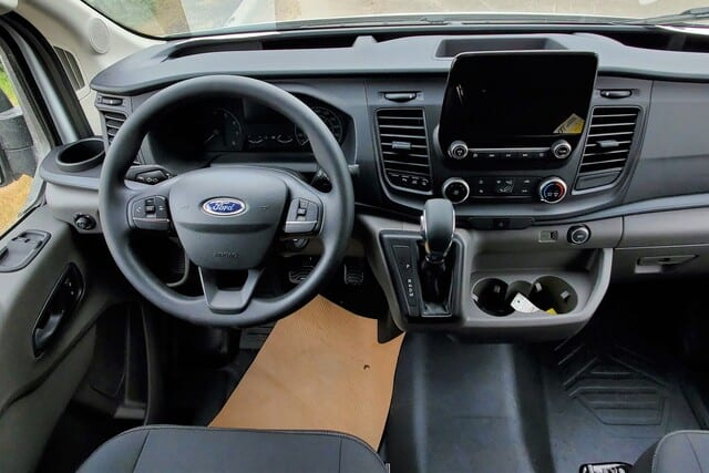 driver compartment in ford transit wheelchair van