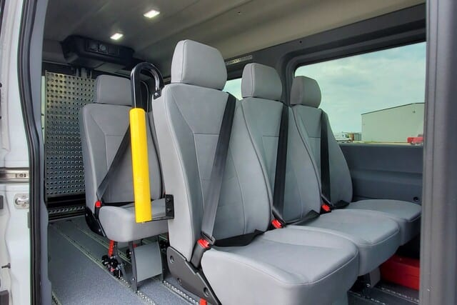 eight passenger wheelchair van with ramp ford transit movemobility