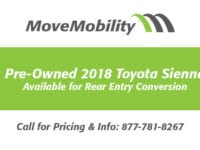 2018 toyota sienna available for wheelchair van conversion movemobility