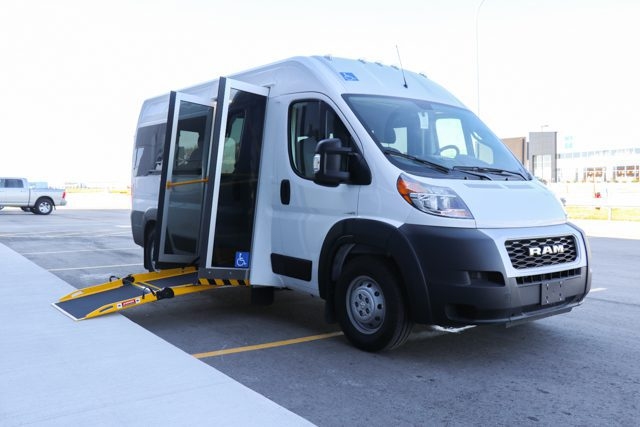 ram promaster p4 wheelchair van with side entry ramp