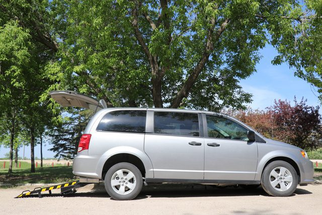 dodge grand caravan with rear access ramp for wheelchairs
