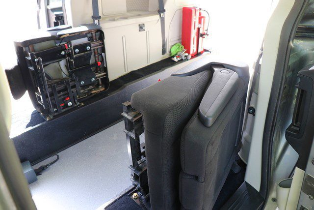 flip and fold seating in rear entry wheelchair van movemobility