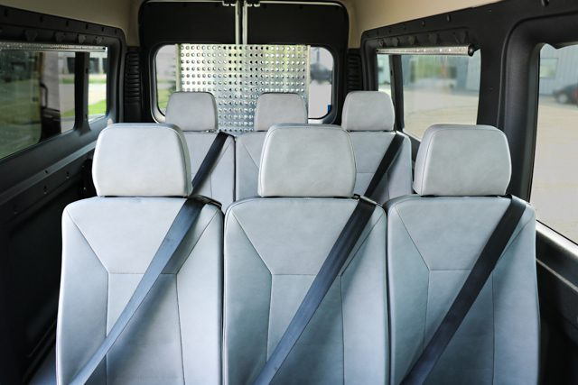 flexible seating inside full size wheelchair van with ramp